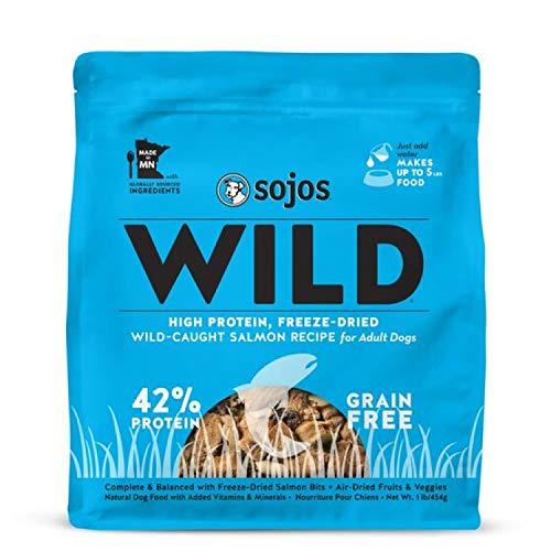 (Sojos Wild Salmon Recipe Freeze-Dried Raw Dog Food, 1 Lb.)