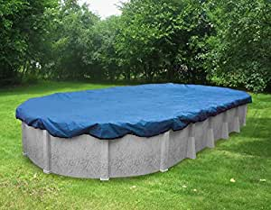 Pool Mate 541632 Econo-Mesh Winter Cover for Oval Above Ground Swimming Pool, 16 x 32'