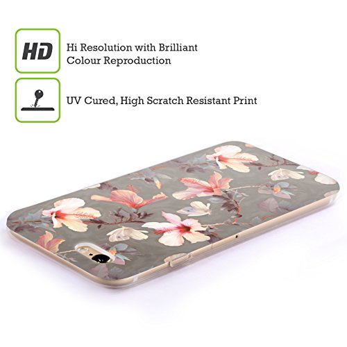 Officiel Micklyn Le Feuvre Hibiscus de Corail Florals Étui Coque en Gel molle pour Apple iPhone 4 / 4S