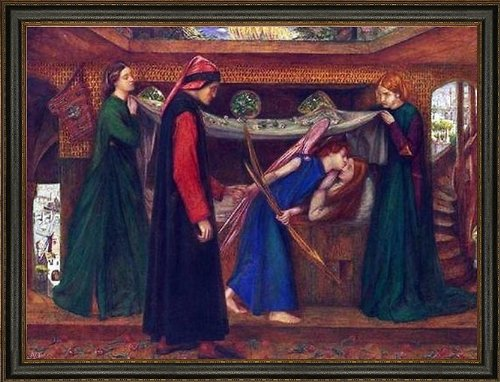 Art Oyster Dante Gabriel Rossetti Dante\'s Dream at The Time of The Death of Beatrice - 18.05