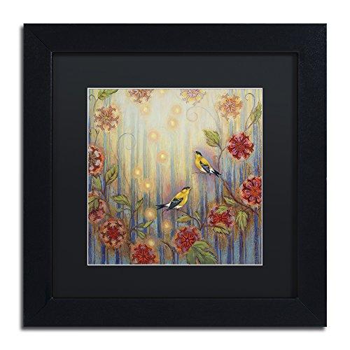 Ocean Arbor by Rachel Paxton, Black Matte, Black Frame 11x11-Inch - Matte Black Arbor