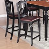 Chelsea Counter Stool [Set of 2] Finish: Black and Cherry Review