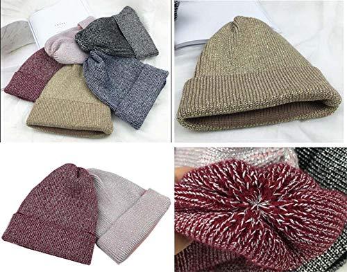 para Grueso Sombrero de Sombrero Invierno Plus Punto Moda Hombres Multicolor20 Punto Terciopelo 1 Sombrero de Temptation Black de Iqn41vgw