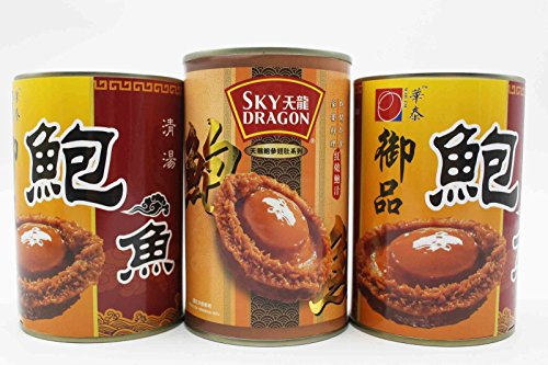 China Good Food Set-11 Canned abalones 22 pieces 紅燒 (1 Can) x 12 pieces 清湯 (2 Cans) Free Airmail by China Good Food