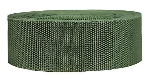 (Strapworks Heavyweight Polypropylene Webbing - Heavy Duty Poly Strapping for Outdoor DIY Gear Repair, 2 Inch x 50 Yards - Olive Drab)