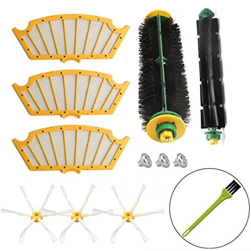 Replacement Kit for iRobot Roomba 500 Series Filter & Brush Kit for Roomba 510 530 540 550 560 570 Vacuum Cleaner Accessories Bristle & Flexible Beater Brush