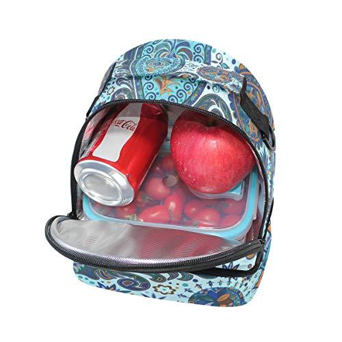 aislamiento hombro la vintage Bolso el con estilo pincnic de ajustable escuela con floral estampado con de para correa étnico almuerzo para xqzxTZS