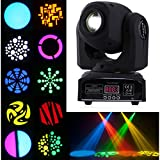 Floureon DMX-512 30W Mini LED Stage Light Spot Moving Head Light For DJ Club Party,9/11CH RGBW Gobo Rainbow Stage PAR Show Disco Bar Lighting