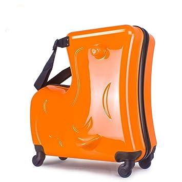 ea385fb06 Niños Que montan la Caja de la Carretilla Hardside Equipaje Niños PC  Embalaje Bolsa Niño Maleta Impermeable,Orange: Amazon.es: Deportes y aire  libre