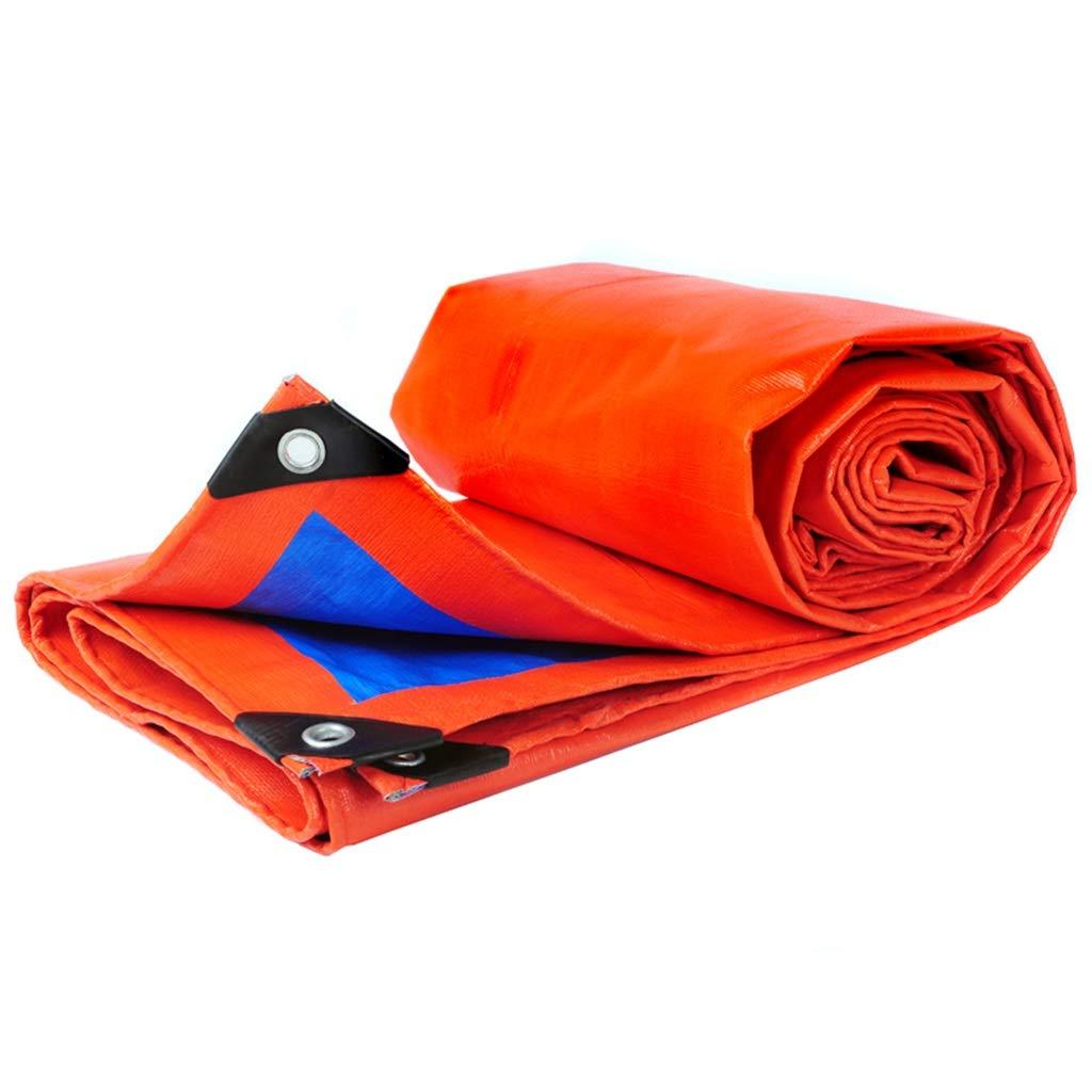 PEターポリンの両面防水ヘビーデューティー屋外サンシェードレインサンスクリーン防風トラックカバーカーゴクロスオレンジとブルー (サイズ さいず : 6X8M) 6X8M  B07GXPL6GB