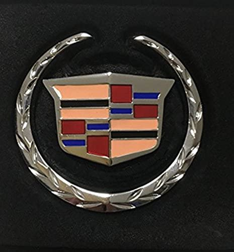 Ycsm 2 Pcs Size 6cm Zinc Alloy 3D Sign Emblem 3M Badge Sticker for Apply to Cadillac