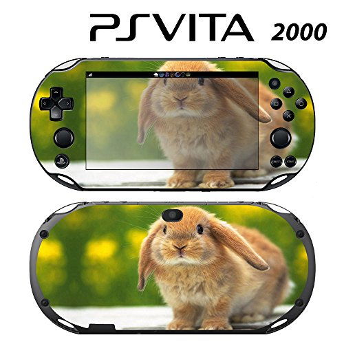 Decorative Video Game Skin Decal Cover Sticker for Sony PlayStation PS Vita Slim (PCH-2000) - Cute Rabbit Bunny -  Decals Plus, PV2-AN04