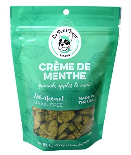 Creme De Menthe Recipe (Le Petit Treat All-Natural Dog Treats - Made in USA Grain Free with Human Grade Ingredients - Soy & Corn Free for Skin, Teeth & Digestive Health - 8oz. Bag (Creme De Menthe))