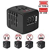 International Power Adapter, European Adapter, G-TING Universal Travel Charger Adapter Plug for UK/EU/US/AU about 150 Countries, Worldwide Wall Charger AC Socket