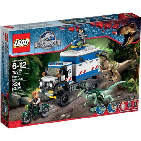 LEGO Jurassic World Raptor Rampage, Includes 3 Mini Figures With A Weapon And Assorted Accessories by Generic