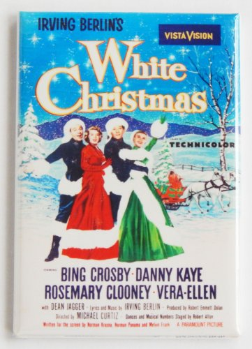White Christmas Movie Poster Fridge Magnet (2 x 3 inches)