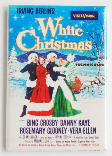 White Christmas Movie Poster Fridge Magnet (2 x 3 inches)