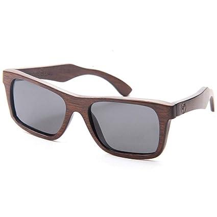 Gafas sol Madera de Bambú Hechas A Mano Retros, Hombres Que Conducen Gafas Polarizadas Gafas