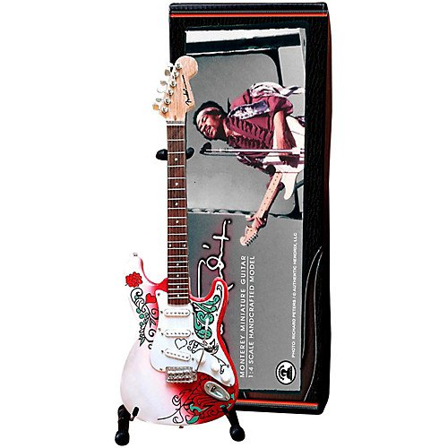 Jimi Hendrix Monterey Fender Stratocaster Miniature Guitar Replica Collectible Pack of 2