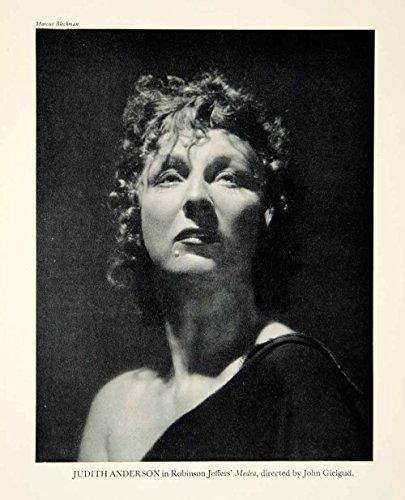 Medea Costume Design (1947 Print Judith Anderson Actress Portrait Medea Robinson Jeffers Theater YTA3 - Original Halftone Print)