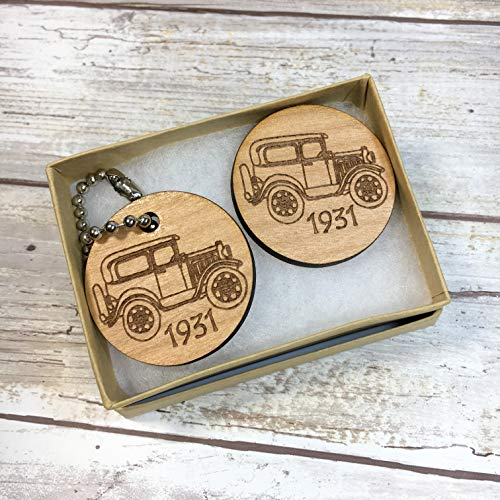 Model A Ford Key Chain and Matching Magnet. Seven models to choose from. Personalized wording available on key chain ()