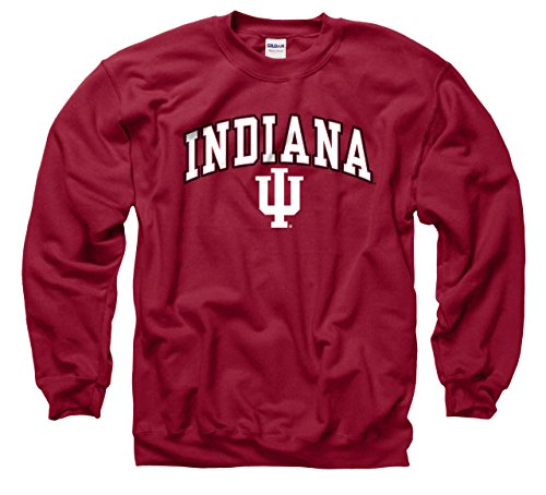 Indiana University Hoosiers Football (Indiana Hoosiers Adult Arch & Logo Gameday Crewneck Sweatshirt - Cardinal , Large)
