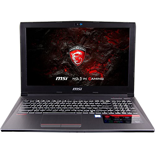 CUK MSI GF62VR Gamer VR Ready Notebook PC (Intel i7-7700HQ, 16GB DDR4, 128GB SSD + 1TB HDD, NVIDIA GTX 1060 6GB, 15.6″ Full HD, Windows 10) – 2017 Virtual Reality Gaming Laptop Computer