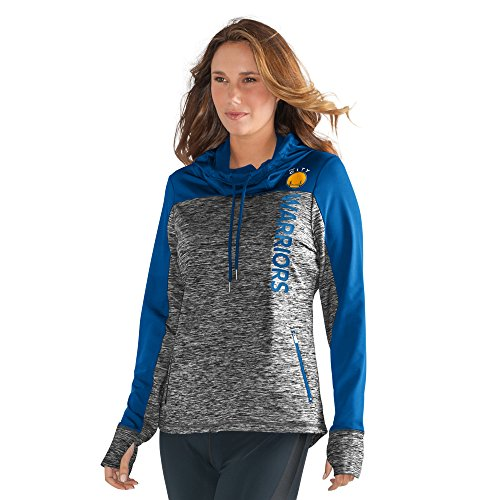 GIII For Her NBA Golden State Warriors Women's Sideline Pullover Hoody, XX-Large, Heather Grey by GIII For Her
