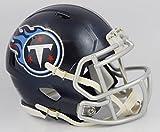 Riddell Tennessee Titans 2018 Satin Navy Metallic Revolution SPEED Mini Helmet