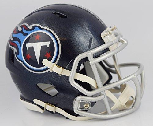 Tennessee Titans 2018 Satin Navy Metallic Riddell Revolution Speed Mini Football Helmet (Revolution Tennessee Titans)