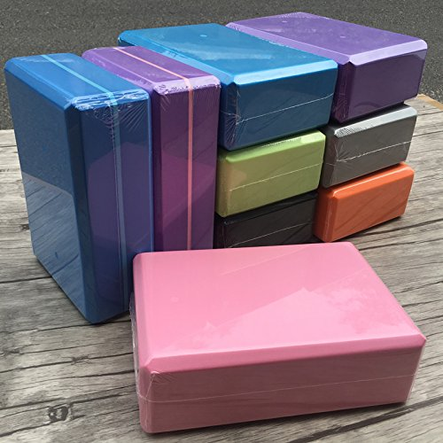 Workout Fitness /& Gym BURBOO Pilates 2PCS Yoga Blocks Bricks Provides Stability Balance /& Support Improve Strength and Deepen Poses Great for Yoga