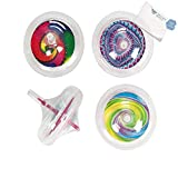 Bargain World Plastic Glow-in-the-Dark Tie-Dyed Spin Tops (With Sticky Notes)