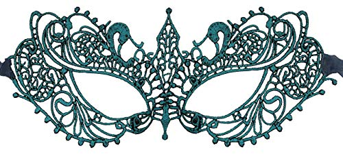 Luxury Mask Womens Lace Masquerade Mask Ana Teal I -