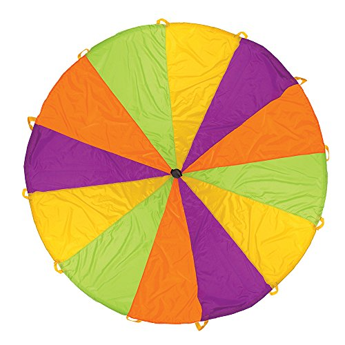 Amazon Lightning Deal 96% claimed: Pacific Play Tents Playchute 10-Feet Parachute Colors and Designs May Vary