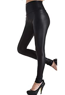 ea291f19a1 FITTOO Mujeres PU Leggins Cuero Brillante Pantalón Elásticos Pantalones  para Mujer
