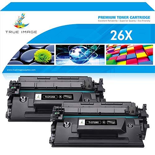 True Image Compatible Toner Cartridge Replacement for HP 26X CF226X 26A CF226A Toner Cartridge HP Laserjet Pro M402 M402n M402dn M426fdn MFP M426 M426fdw Toner M402D M402dw M426dw Printer Ink Toner