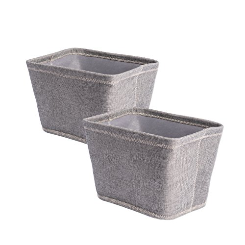 DII Collapsible Polyester Storage Basket or Bins, Home Organizer Solution for Home, Office Desk, Shelf, Bedroom & Closet (Set of 2 Small Baskets - 12x10x8