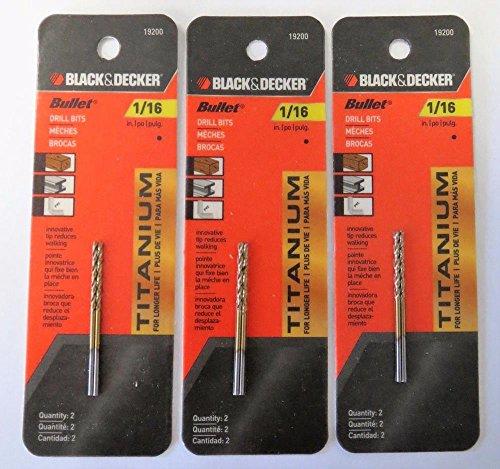 Power Tools Black & Decker 19200 Titanium Metal Plastic & Wood 1/16
