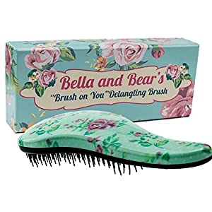 Detangling Brush by Bella and Bear - the Best Detangler Brush for Wet or Dry Hair - no more tangles no more tears