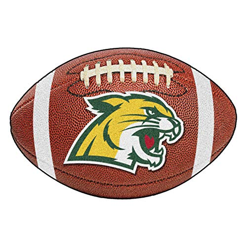 FANMATS NCAA Northern Michigan University Wildcats Nylon Face Football Rug