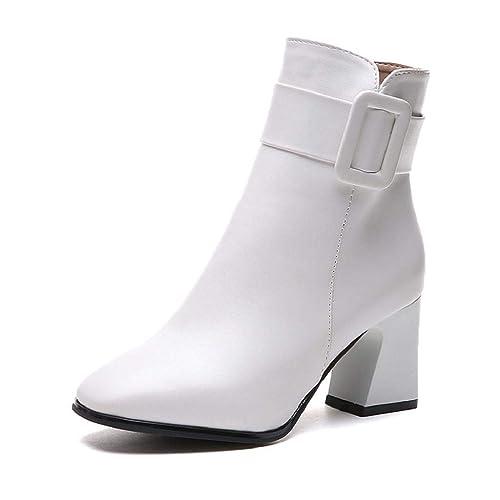 QUICKLYLY Botas de Mujer,Botines para Adulto,Zapatos Otoño/Invierno 2018, Moda