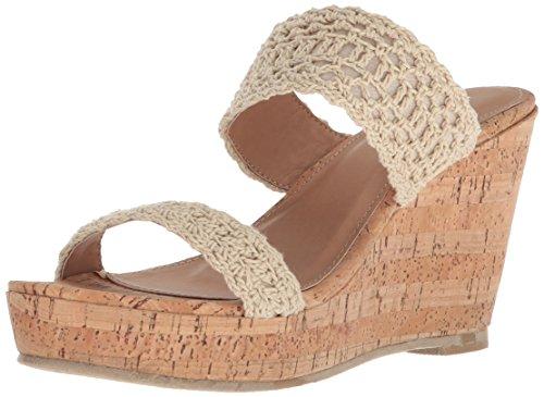 Report Women's Diaz Wedge Sandal, Natural, 8 Medium -