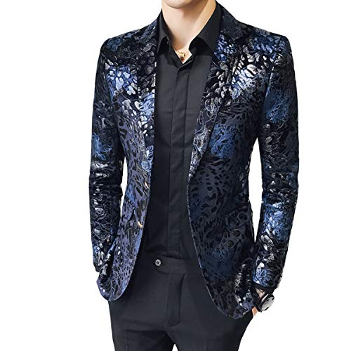 - MAGE MALE Men's Dress Party Floral Suit Jacket Notched Lapel Slim Fit Two Button Stylish Blazer