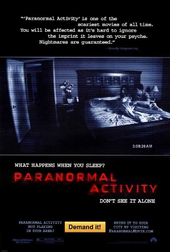 Paranormal Activity POSTER Movie (2007) Style A 27 x 40 Inches - 69cm x 102cm (Katie Featherston)(Micah Sloat)(Mark Fredrichs)(Amber Armstrong)(Randy McDowell)(Ashley Palmer)(Tim Piper) by Pop Culture Graphics