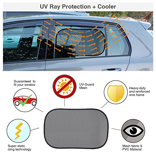 car window shade by carcoo 2 pack 20 x12 baby car sun shade uv protection privacy windows. Black Bedroom Furniture Sets. Home Design Ideas