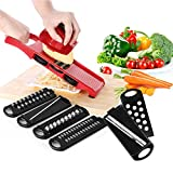 Momugs Adjustable Mandoline Food Slicer - 6 Blades - Vegetable...