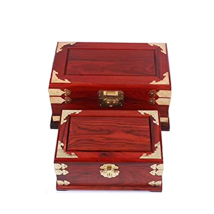 SXBISHNEG Caja de joyería, Caja de Madera Caja de Llaves Antiguas y Productos Occidentales,