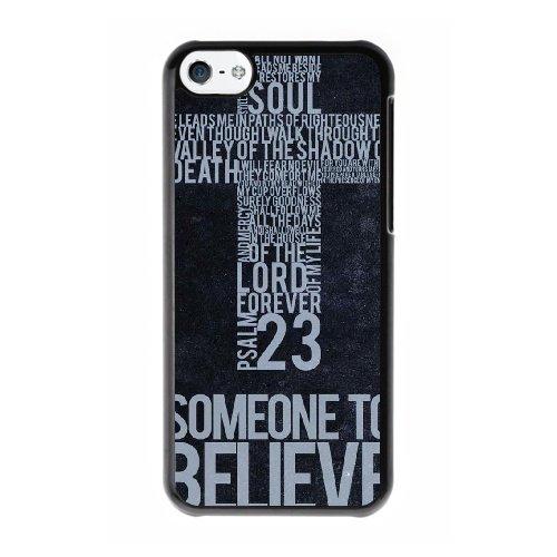 Coque,Coque iphone 5C Case Coque, Christian Cover For Coque iphone 5C Cell Phone Case Cover Noir