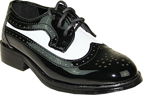 Jean YVES Boy Dress Shoe JY03KID Wing Tip Two-Tone Tuxedo for Wedding, Prom and Formal Event (11 M US Little Kid) - Jean Yves Tuxedos