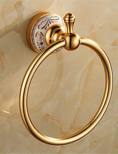 Toalla Anillos y anillas de toallas para baño & níquel cepillado toallero de anilla y